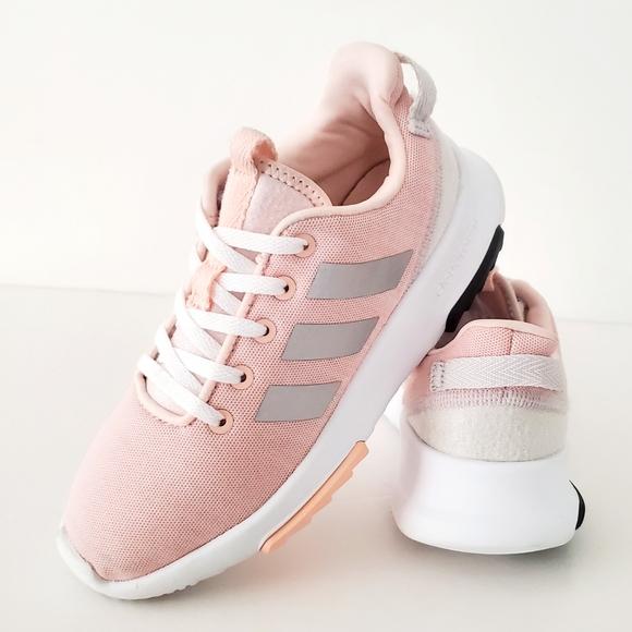 Girls Like New Adidas Cloudfoam Racer Size 2